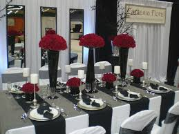 Awesome Red And Black Wedding Decorations Icets Info