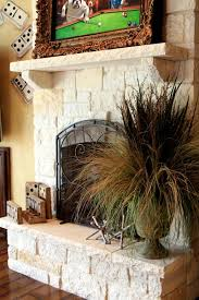 Austin Stone Fireplace And Mantle  Lucero MasonryAustin Stone Fireplace