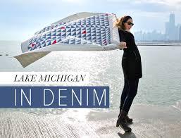 Lake Michigan In Denim Quilt - Suzy Quilts &  Adamdwight.com