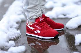 reebok classic leather red suede 1