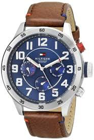 tommy hilfiger men s 1791066 stainless steel watch brown tommy hilfiger men s 1791066 stainless steel watch brown leather band amazon co uk watches
