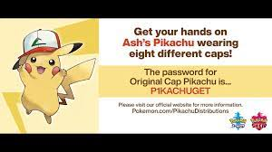 Ash's Pikachu Mystery Gift campaign announced for Pokémon Sword & Shield