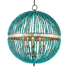 most recent turquoise wood bead chandeliers with regard to chandelier turquoise beaded chandelier teal beaded