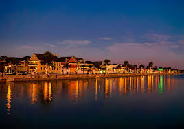 Christmas Lights In Sunrise Florida Downtown St Augustine Bayfront During Nights Of Lights