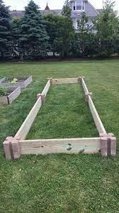 build a raised bed corner blocks
