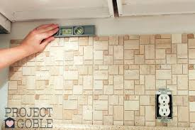 how to put backsplash got to make sure the l and stick instant mosaic tile we