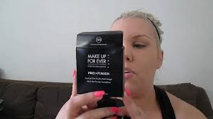 review make up for ever pro finish powder foundation oily skin you