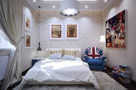 small bedroom lighting ideas. Small Bedroom Design Ideas To Make A Look Bigger With Wall Brick Decor And Large Drum Pendant Light Fixture Lighting M