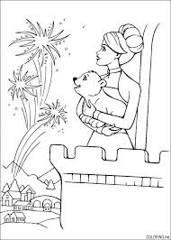 Small Picture Coloring page Barbie castle fireworks Coloringme