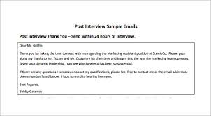 sending a thank you email after a phone interview 14 thank you email after interview doc excel pdf free