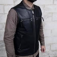 the brawler first mfg s no nonsense rivet reinforced men s leather vest