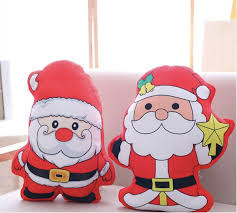2019 <b>Lovely Santa Claus Pillow</b> Short Plush Toy PP Cotton Stuffed ...
