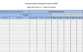 Ordering Spreadsheet Food And Alcohol Order Management System Is A Must Have Tool