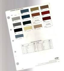 Interior Color Chart Details About 1978 Cadillac Interior Color Chip Chart Paint Sample Brochure Dupont