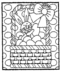 Easter Bunny In Basket Coloring Page Crayolacom