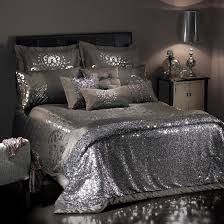 image of duvet cover luxury silver