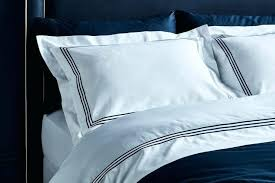 designed luxury organic cotton hotel collection quilt set in white with navy stitching duvet covers hotel collection bedding celestial king