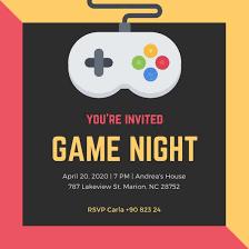 Game Night Invitation Template Customize 756 Game Night Invitation Templates Online Canva