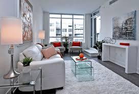 modern living room. Modern White Condominium Living Room T
