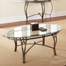 Steve Silver Madrid Oval Glass Top Coffee Table Walmart Com