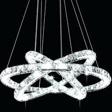 no light crystal chandelier modern galaxy led crystal ring chandelier pendant light benedetto 5 light crystal no light crystal chandelier