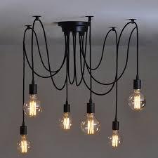 vintage edison industrial style diy chandelier retro pendant light ceiling lamps