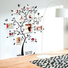 family tree picture frame wall black photo tree frame family tree wall decals adhesive wall stickers