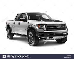 Silver 2011 Ford F-150 Raptor SVT truck isolated on white ...
