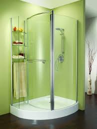 corner shower stalls small bathrooms. extraordinary corner shower stall design with green wall stalls small bathrooms