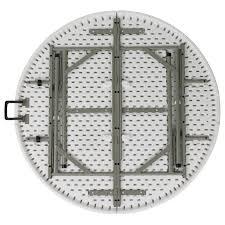 round bi fold granite white plastic folding table hover to zoom
