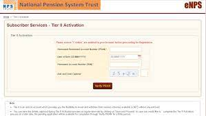how to open an nps tier 2 account