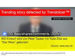 Cdu Mann Peter Tauber Kontert Afd Mit Einem Spruch Von Yoda