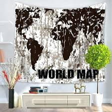 world map wall hanging world map wall tapestry black tapestry 1 new wall hanging