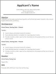 Resume For Teaching Job Related Post Resume For Teachers Job Doc