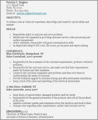 Sample Resume For Retail Consultant Inspirational Sales Job Resume