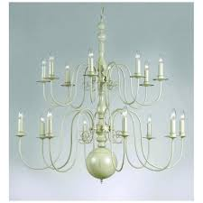 bologna 16 light chandelier fitting in a hand painted cream finish