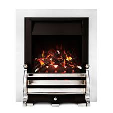 Ignite Fairfield Open Fronted Full Depth Chrome Effect Inset Gas Fire    Departments   DIY at B&Q