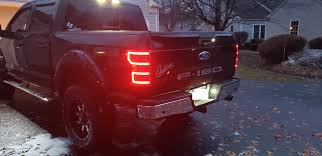 2018 F150 Led Lights 2018 2020 F150 Anzo Drl Outline Led Taillights Black Housings 321338