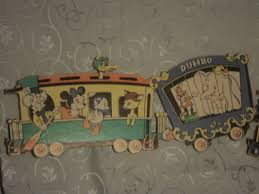 disney train vintage disney wall decoration for child s room train is in 2 sections and full of disney characters train is made of thick cardboard and