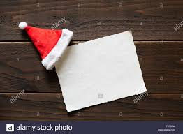Christmas Holiday Paper Card With Red And White Santa Claus