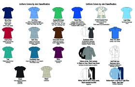 Scrub Color Chart Uniform Guidelines Dch Health System