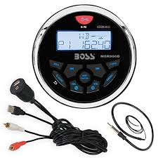 boss audio mgr350b bluetooth in dash marine gauge style digital boss audio mgr350b bluetooth in dash marine gauge style digital media am fm receiver bundle
