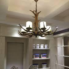 6 light resin cylinder shade glass antler chandelier intended for 2019 modern antler chandelier gallery
