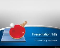 Free Table Tennis Powerpoint Template Is A Free Olympics