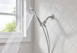 moen ignite 5 spray handheld shower head in spot resist brushed nickel at menards