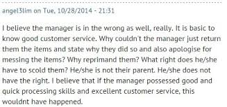 is the customer always right sg others sympathised huixin and felt the manager could have handled the situation more professionally