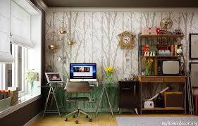 office wallpaper designs. Modern-Home-Office-Design-with-Tree-wallpaper-pattern. Office Wallpaper Designs P
