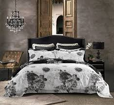 jieshiling 3pc 600 thread count egyptian cotton high quality duvet cover queen queen white