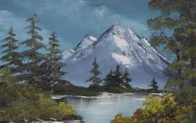 realistic painting of a bavarian landscape