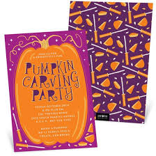 Halloween Invitations Cards Pumpkin Party Halloween Invitation